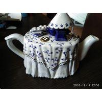 Фарфоровый Заварочный Чайник Стол для Чаепития ручная работа новый