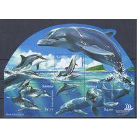 [1387] Самоа 2005. Фауна.Дельфины. БЛОК.