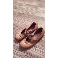 Туфли золотого цвета,натуральная кожа