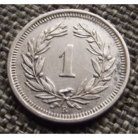 Швейцария. 1 раппен 1937
