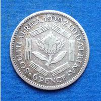 Южная Африка Британский доминион 6 пенсов 1929 Георг V