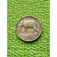 Бельгийское Конго 2 франка 1947 слон
