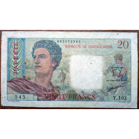 Таити, 20 франков 1951 год, Р21