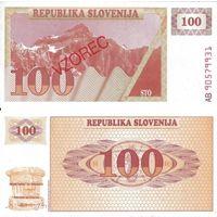 Словения. 100 толаров 1990 (Образец) [UNC]