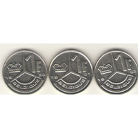 1 франк 1990, 1991 г. Q.