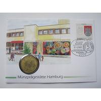 Германия, 5 марок, 1967,  монета-письмо, серебро