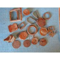 Старая фурнитура: пряжки, кольца, пуговицы