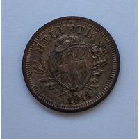 Швейцария 1 раппен, 1914 7-5-19