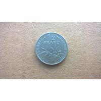 Франция 1/2 франка, 1969г. (D-8)