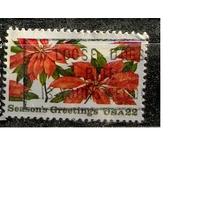Флора цветы США 1968  4311