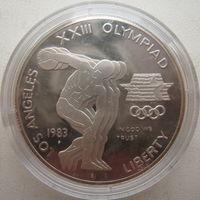 США 1 доллар 1983 г. XXIII летние Олимпийские Игры. Дискобол (a)