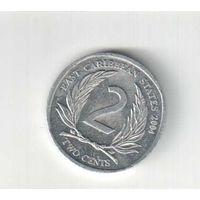 2 цента 2004 года Восточные Карибы 24
