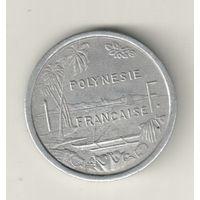 Французская Полинезия 1 франк 1975
