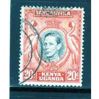 Британские колонии.Кения,Уганда,Танганьика.20с. Король Георг V.Фламинго.