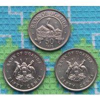 Уганда 50 центов 1976 года. Восточный Венценосный журавль АU. Гарантия низкой цены!