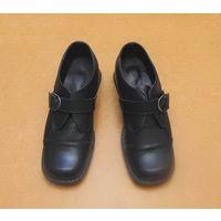 Женские туфли из натуральной кожи. На застёжке. Р-р 36. Чёрные. С кожаной стелькой.