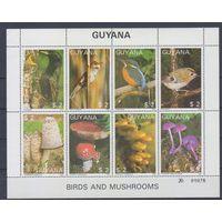[326] Гайана 1987. Фауна и флора.Птицы,грибы.  МАЛЫЙ ЛИСТ.
