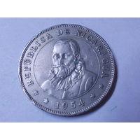 Никарагуа 50 сентаво 1954 г. Аукцион с 1.00 руб.