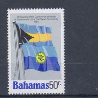 [967] Багамы 1984. Флаги. Одиночный выпуск. MNH