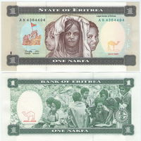 Эритрея 1 накфа 1997 год UNC