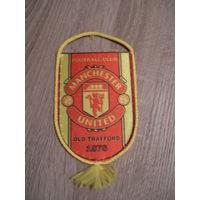 Футбольный вымпел Манчестер Юнайтед,Редкий.