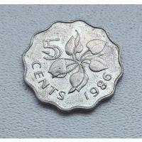 Свазиленд 5 центов, 1986 7-1-25