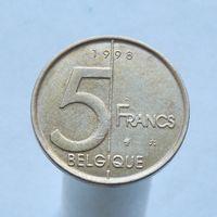 Бельгия 5 франков 1998 (Французская легенда)