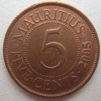 Маврикий 5 центов 2005 г. (g)