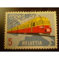 Швейцария. 1962г. Поезд.