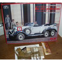 G4 (производства 1939 г.), Германский легковой автомобиль с пассажирами +Ф\Э  EDUARD1\35ICM