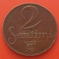 2 сантима 1932 ЛАТВИЯ