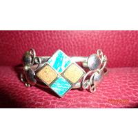 Массивный серебряный браслет. Ручная работа