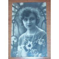 Старая фото-открытка 1928 год.Франция
