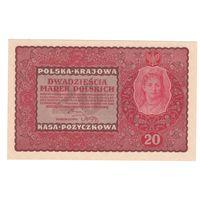 Польша 20 марок 1919 года. II Serja EH. Состояние UNC!