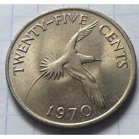 Бермуды 25 центов, 1970             ( 6-1-4 )