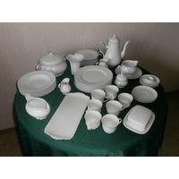 Сервиз чайный фарфоровый Белоснежный 19 предметов Германия.