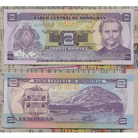 Распродажа коллекции. Гондурас. 2 лемпиры 2010 года (P-80 Ah - 1996-2012 Issue)