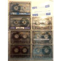 Аудиокассеты TDK,разные,с записями, одним лотом 7шт.
