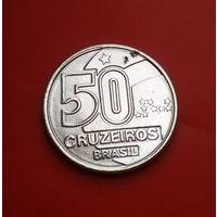 26-34 Бразилия, 50 крузейро 1992 г. Единственное предложение монеты данного типа на АУ