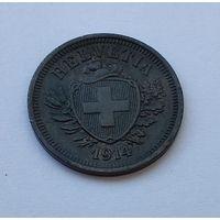 Швейцария 1 раппен, 1914 7-5-21