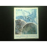 Франция 2008 картограф 17-18 вв., глобус