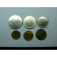 КИРГИЗИЯ. Набор монет из 6 штук 2008 года. ОРИГИНАЛ.