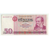 Германия, 50 марок 1971 год, серия ВА.