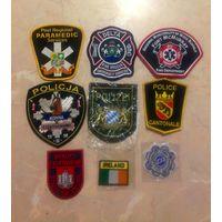 Лот нашивок полиции и пожарных 8 шт., продажа или обмен.