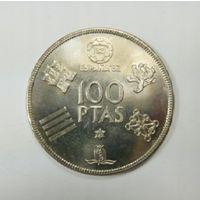 """Испания, 100 песет 1980 год, """"Чемпионат мира по футболу 1982"""""""