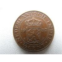 Нидерландская Индия 1/2 цента 1937 г.