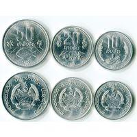 Лаос набор монет (10-20-50 атов) 1980 UNC