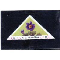 Хорватия. Цветы. Непочтовая треугольная марка. 1941.