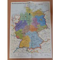 Карта Германии 1991 года (сразу после объединения)