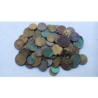 """Лот """"убитых"""" монет СССР до 1958 года , 100 штук , с 10 копеек ."""